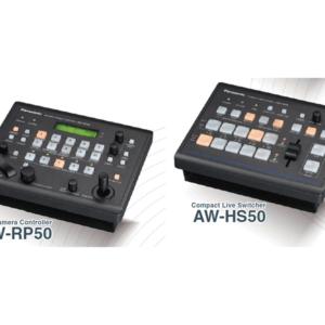 Pupitre de commande PANASONIC AW-RP50 et mélangeur
