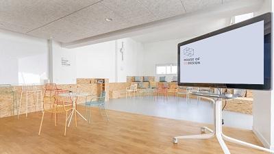 aménagement d'un espace multi-zones, design et collaboratif