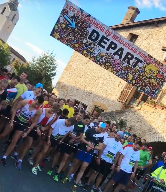 départ course 9 clochers Chazay 2019