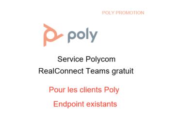 Polycom RealConnect pour Microsoft Teams – OFFRE PROMO : sans frais jusqu'au 30 juin 2020
