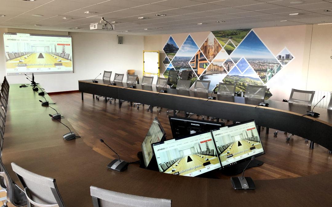 salle de conseil moniteur système conférence